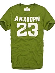 Men's Round Neck Green Number 23 Sewn Applique American Football Sports T-Shirts