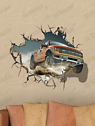 3D The Wall Car Stickers Wall Decals