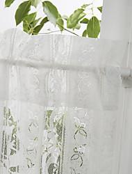 """Land anmutige Blätter und Blüten weißer Spitze Tier Küche Vorhang-Set - 2 Stück, 54 × 26 """"l"""