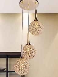 120W E27 Minimalist Gold-Pendelleuchte mit 3 Leuchten