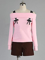 Inspired by Diabolik Lovers Yui Anime Cosplay Costumes Cosplay Suits Patchwork Pink Long Sleeve Top / Shorts