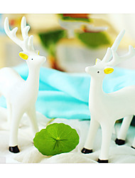 "13 ""H Belle porcelaine Deer, Lot de 2"