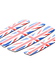 Simple Union Jack Pattern Motorcycle Protector Trim Sticker (4 Pcs Kit)