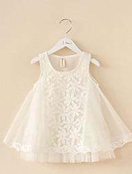 Girl's Jacquard Dress,Cotton Summer