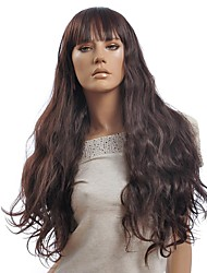 Capless Brown Curly Long Synthetic Wig
