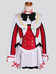 Inspired by Love Live Honoka Kōsaka Anime Cosplay Costumes Cosplay Suits Patchwork Red Long Sleeve Coat / Vest / Shirt / Skirt / Socks