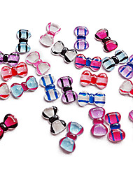 24PCS Mixs Colore Stripe bowknot di disegno del chiodo decorazioni di arte