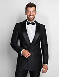lana gris estándar al 100% traje de dos piezas