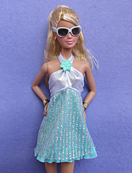 Casual Costumes For Barbie Doll Sky Blue More Accessories For Girl's Doll Toy