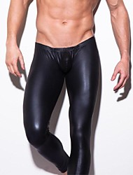 Men's Leather  Ultra Light Ultra Smooth Tight Long Johns