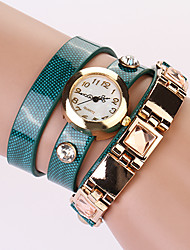 Koshi 2014 Fashion PU Round Watch(Screen Color)