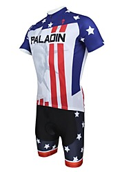 ILPALADINO Cycling Jersey with Shorts Men's Short Sleeve Bike Breathable Quick Dry Ultraviolet ResistantJersey + Shorts Clothing