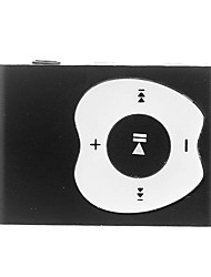 A Apple Design Botão Clipe MP3 Player com leitor de cartão TF (Preto)