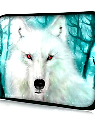 "White Wolf with Red-eyed Pattern Neoprene Sleeve Case for 15.4"" MacBook Pro/ Pro with Retina Display"