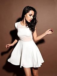 Women's Sexy Mesh Joint Slim Dress