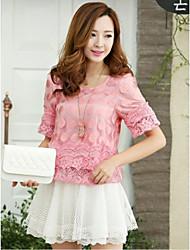 Mulheres de Moda de Nova Blusa Chiffon