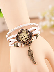 Hanno Women Hand Woven Wings Bracelet Watches (White)