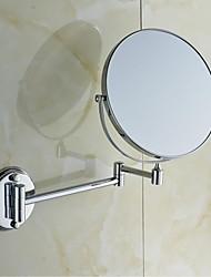 360 degrés de rotation, fini chrome rond de 8 pouces en laiton massif du Mont mur miroir cosmétique