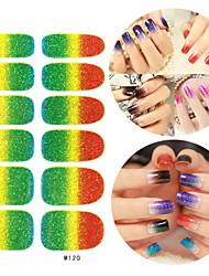 28PCS Glitter Gradient Ramp Nail Art Stickers M Series No.120