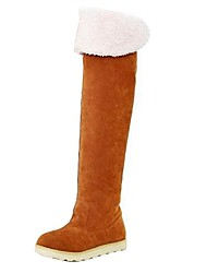 Women's Flat Heel Over Knee Snow Boots Shoes(More Colors)