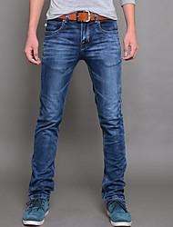 Herren Elastische Kraft Slim Jeans-Bleistift-Hosen
