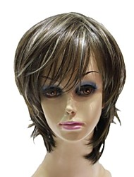 Capless Top Grade Synthetic Short Mixed Color Straight Synthetic Wigs