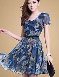 Women's Dresses , Polyester Casual ORG