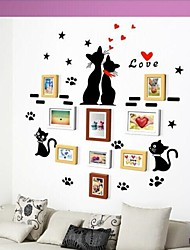 3 colori Photo Frame Collection Set di 9 con Wall Sticker