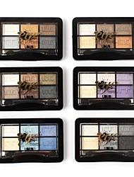 6 Colors Shimmer Bright Eye Shadow Palette glamorous Eyeshadow by UBUB