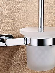 Massivem Messing WC-Bürstenhalter mit Bürste, 6 Zoll x 5 Zoll x 14 Zoll