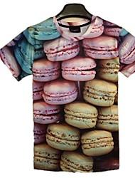 zomer harajukustijl dier religous 3D-printen met korte mouwen t-shirt