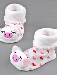 Children's Cute Pig Baby Lovely Socks Anti Slip Newborn Shoes Cartoon Animal Slippers Boots