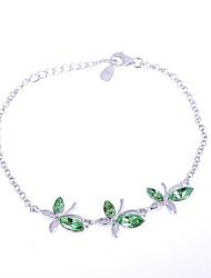 AS 925 Silver Jewelry   Crystal Bracelet