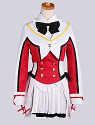 Inspired by Love Live Hanayo Koizumi Anime Cosplay Costumes Cosplay Suits Patchwork Red Long Sleeve Coat / Vest / Shirt / Skirt / Socks