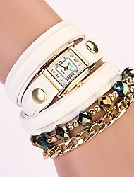C&D 2014 New Women luxury long chain With Rhinestone Leather Strap Watches XK-32
