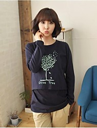 Olive Tree Long Sleeve Spring Fall Maternity Plus Size Comfortable Top T-shirt