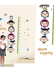 Createforlife® Cartoon Face Height Chart Kids Nursery Room Wall Sticker Wall Art Decals