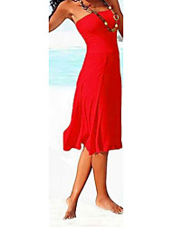 s&r bustier couleur unie multi-way robe des femmes