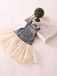 Girl's Jean Pocket Vest Dress