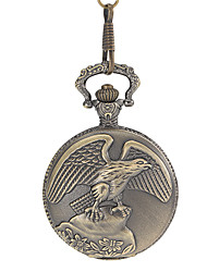 Unisex Retro manopola rotonda della lega Pocket Watch