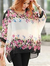 Women's Floral Print Chiffon Blouse