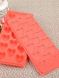 Plastic Rectangle amour moule de glace Set de 2 pièces, 24.5x10.5x2.5cm