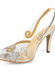 bc charol talón bomba honda de las mujeres zapatos de las sandalias de vuelta