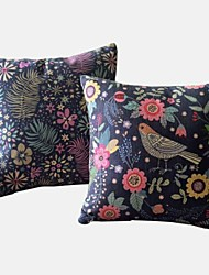 Set of 2 Country Oriental Floral  Pastoral Luxuriant Pillow Covers