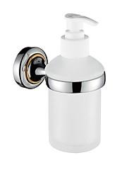 Chrome and Golden Brass Wall Mounted Soap Dispenser