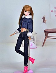 Poupée Barbie cool girl Ink Blue Jean style costume occasionnel