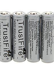 TrustFire 14500 900mAh bateria com proteção de sobrecarga (4 peças)