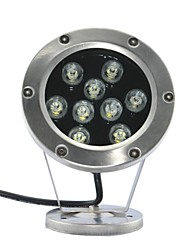 LED 9pcs High Power LED outdoors 9W White Underwater Light AC/DC12V