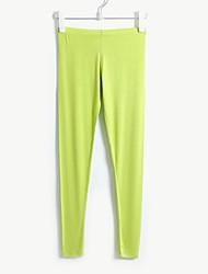 Delgado de la Mujer y algodón modal cómodo con Solid Color de la piel suave y elástico, multicolores color caramelo Leggings