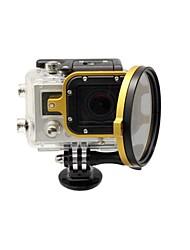 2014 Chegada Nova acessórios da câmera 58 milímetros Flip Converter para GoPro 3 Habitação - Gold